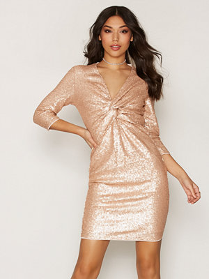 TFNC Moon Midi Dress Nude