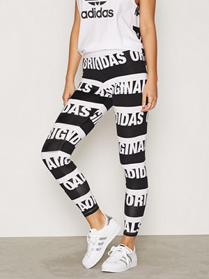 Leggings & tights - Adidas Originals Leggings Svart/Vit