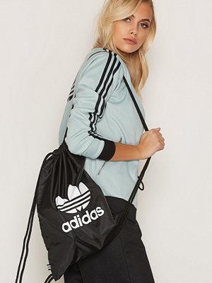 Adidas Originals Gymsack Trefoil Svart ryggsäck med tryck