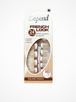 Depend French Look Nails - Short Square Design