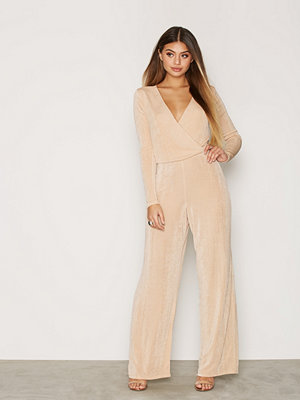 Jumpsuits & playsuits - NLY Trend Glam Wrap Jumpsuit