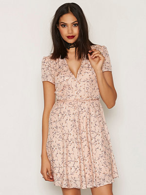Glamorous Floral SS Dress Pink