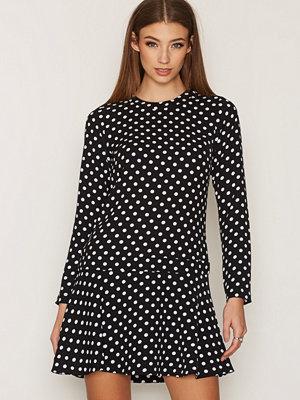 MICHAEL Michael Kors Evelyn Dot Flounce Dress Black