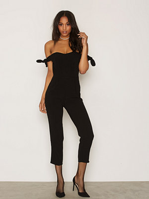 Jumpsuits & playsuits - New Look Bardot Tie Sleeve Jumpsuit