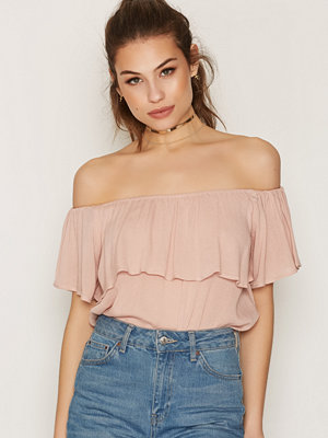 NLY Trend Summer Frill Top Ljus Rosa