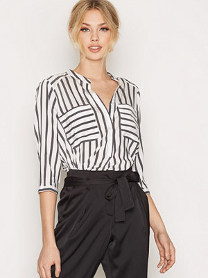 Vero Moda Vmerika Stripe 3/4 Shirt Top E10 No Vit