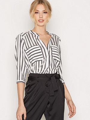 Vero Moda Vmerika Stripe 3/4 Shirt E10 Noos Vit