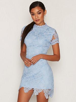 Ax Paris L/S Laced Skater Dress Blue