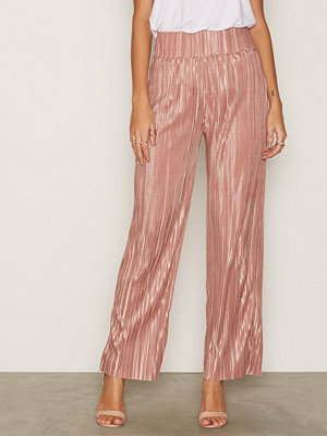 NLY Trend byxor Pleated Wide Pants Rose