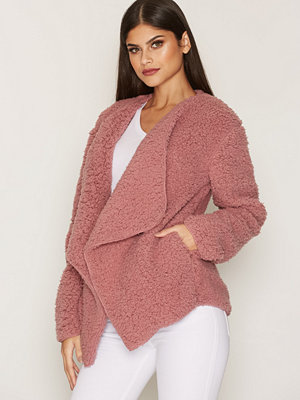 NLY Trend Teddy Soft Jacket Dusty Pink
