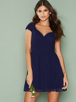 NLY One Cup Sleeve Dress Navy