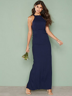 NLY Eve Maxi Crepe Gown Navy
