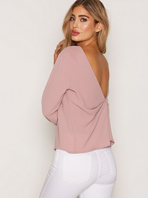 NLY Trend Tied Blouse Ljus Rosa