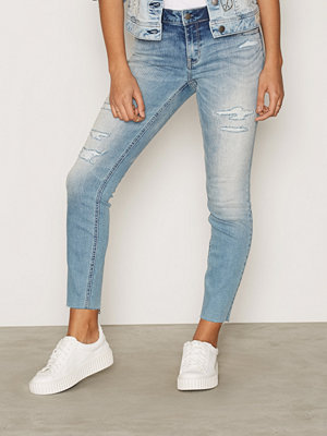 Odd Molly Stretch It Cropped Jeans Mid Blue