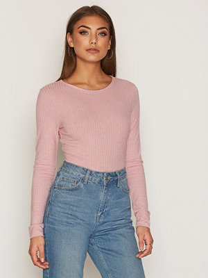 NLY Trend Wide Rib Top Rosa