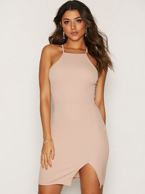 NLY One Thigh Slit Dress Beige