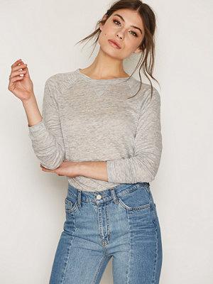 Filippa K Linen Sweatshirt Tee Light Grey