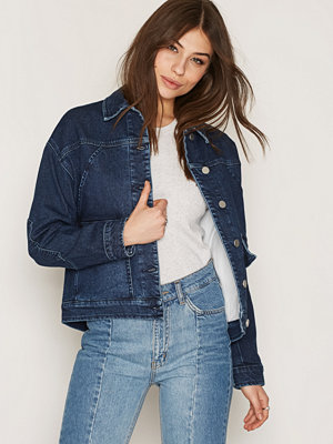 Filippa K Oversized Denim Jacket Dark Blue