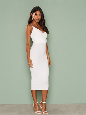 NLY One Wrap Midi Crepe Dress