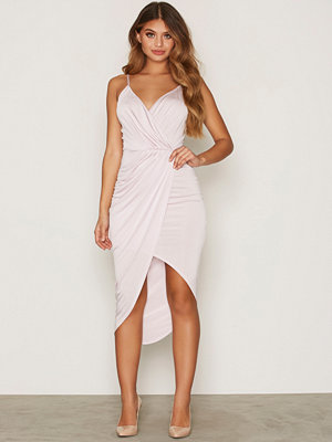 NLY One Wrap Ruched Dress Ljus Lila