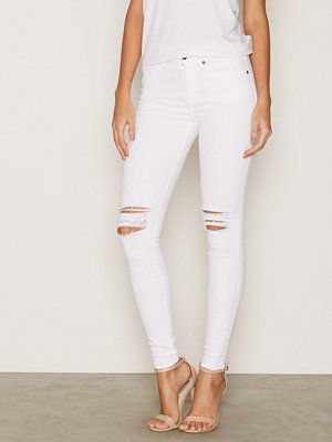 Dr. Denim Lexy Black Ripped Knees White