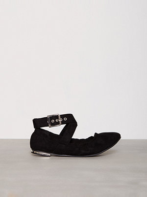 Ballerinaskor - New Look Suedette Buckle Strap Pumps Black