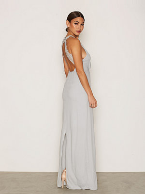 NLY Eve Maxi Crepe Gown Ljus Blå