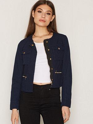 NLY Trend Short Detailed Jacket Mörk Blå