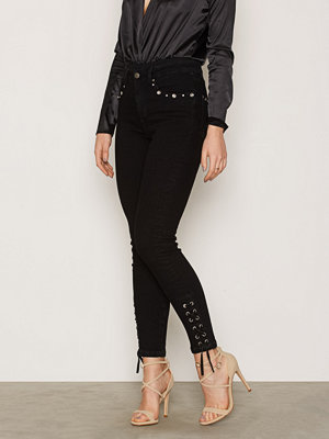 Jeans - NLY Trend Lace Up Denim