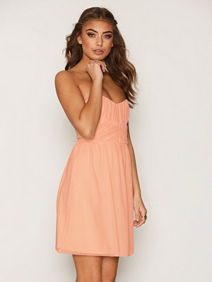 NLY One Wrapped Bandeau Dress Peach