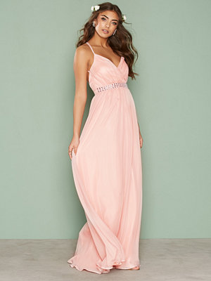 NLY Eve Embellishment Gown Ljus Rosa
