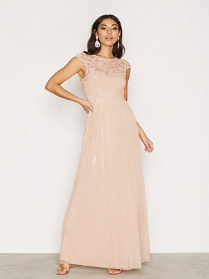 NLY Eve Follow Me Lace Gown Ljus Rosa