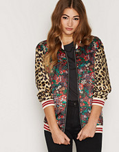 Maison Scotch Silky Feel Print Bomber
