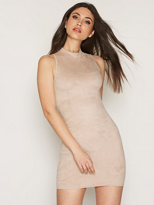 NLY Trend Sleeveless Suede Dress Light Beige