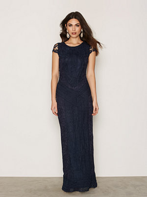 Dry Lake Heart Long Dress Navy