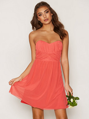 NLY One Wrapped Bandeau Dress Coral