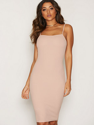 NLY One Straight Line Bodycon Beige