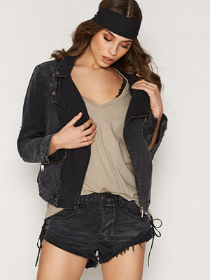 One Teaspoon Black Anchor Vespa Jacket