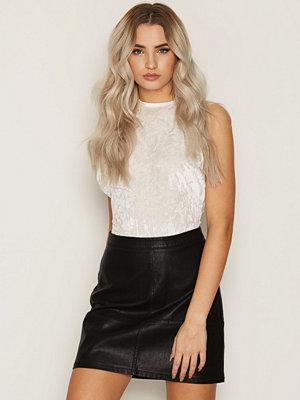New Look Leather-Look Mini Skirt Black