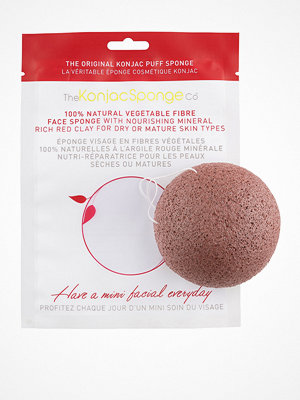Ansikte - Konjac Sponge Facial Puff Red Clay Red Clay