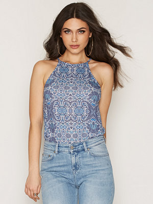 NLY Trend Flowy Print Top Porcelain