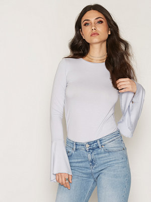 NLY Trend Wide Sleeve Top Light Blue