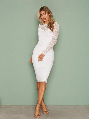 NLY One Lace Midi Dress Vit
