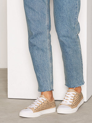 NLY Shoes Stud Sneaker Beige