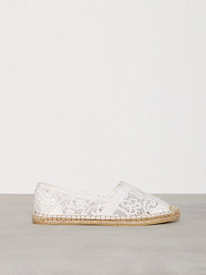 Tygskor & lågskor - NLY Shoes Lace Espadrille Offwhite