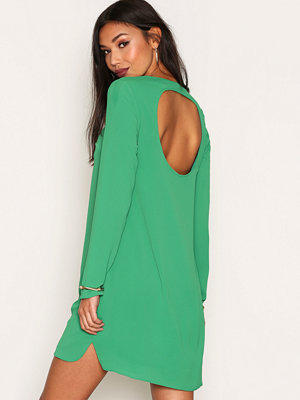 NLY Trend Long Sleeve Shift Dress Grön