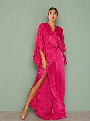 NLY One Kimono Wrap Maxi Dress Cerise