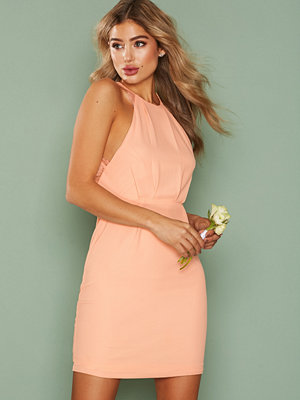 NLY One Crepe Lace Dress Ljus Rosa