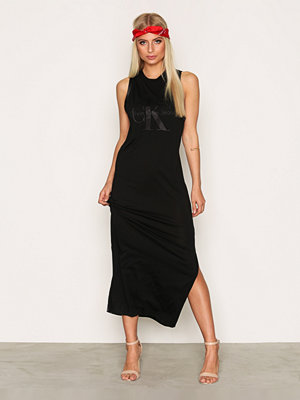 Calvin Klein Jeans Drew True Icon Maxi Dress Black