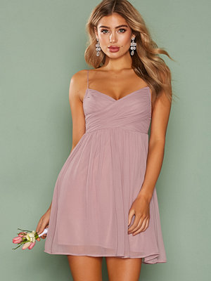 NLY Trend Dreamy Wrap Short Dress Lila